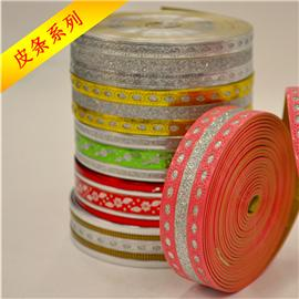 Leather, ribbon, elastic