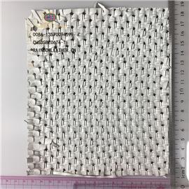厂家直销混种羊交叉编织单色羊皮可定制用于箱包鞋图片