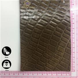 [彩鸿]厂家直销胎牛皮 小长方格水染油腊整张牛皮可用于箱包、鞋