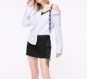 What kind of jacket does denim skirt look good with?