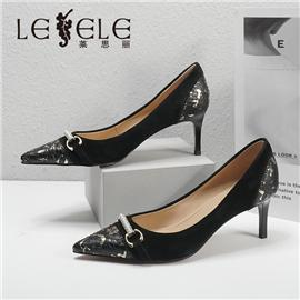 LESELE|莱思丽2021秋季优雅蛇皮鞋面时装鞋LC7931