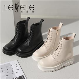 LESELE 莱思丽冬新款时尚修长秋冬全新牛皮马丁靴LD7380