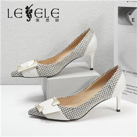LESELE|莱思丽2021秋季时尚尖头橡胶底时装鞋LC7926