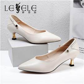 LESELE|莱思丽2021春季新款优雅时尚牛皮橡胶底时装鞋LA7499