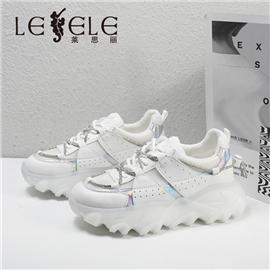 LESELE|莱思丽2021秋季新款时尚牛皮橡胶底时装鞋LA7748