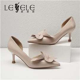 LESELE|莱思丽2021春季新款优雅时尚牛皮高跟鞋LA6483
