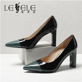 LESELE|莱思丽2021春季新款优雅复古牛皮高跟鞋LA6489