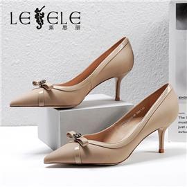 LESELE|莱思丽2021春季新款时尚百搭羊皮女士高跟鞋LA6949