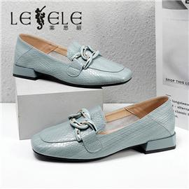 LESELE|莱思丽2021秋季新款时尚百搭蛇皮乐福鞋LA7785