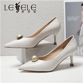 LESELE|莱思丽2021春季新款优雅时尚羊皮高跟鞋LA6486