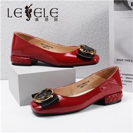 LESELE|莱思丽2021春季新款复古英伦风牛皮橡胶底女士时装鞋LA6037