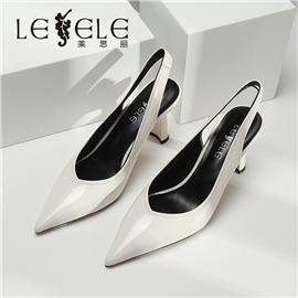 LESELE|莱思丽新款真皮女单鞋时尚高跟一字带简约尖头女单鞋|ME9224