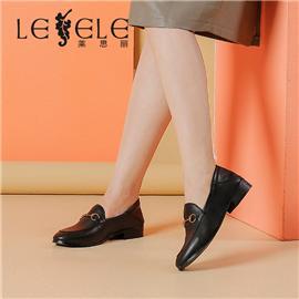 LESELE|莱思丽新款四季鞋女平底百搭英伦马衔扣乐福鞋女一脚蹬皮鞋|LA4067