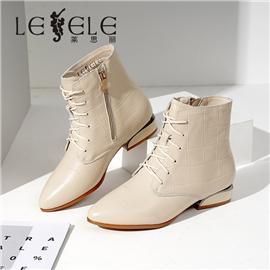 LESELE 莱思丽冬新款牛皮舒适保暖绒毛冬靴LD7694