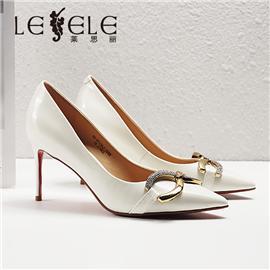 LESELE|莱思丽2021春季新款复古英伦风漆皮女士高跟鞋LA6176