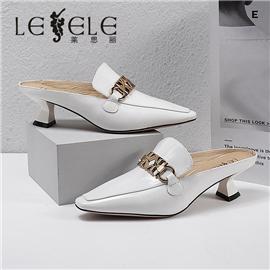 LESELE|莱思丽2021夏季新款时尚牛皮橡胶女式凉鞋 LE8505