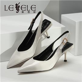 LESELE|莱思丽欧洲站女鞋春夏新欧货真皮尖头浅口细高跟鞋漆皮凉鞋女潮|ME9237