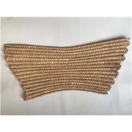 拉菲草缝鞋面|漫璐佳编织