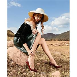 MISS LATTE   时尚闪料 金属跟 凉鞋