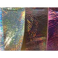 利文超纤幻彩蛇纹0.8mm厚度1370mm幅宽漆皮超纤图片