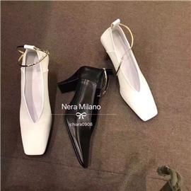 品牌同款鞋跟 PC透明跟 PU橡胶底