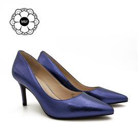 M&Y 秋季新款羊皮细低跟鞋单鞋女 尖头新品