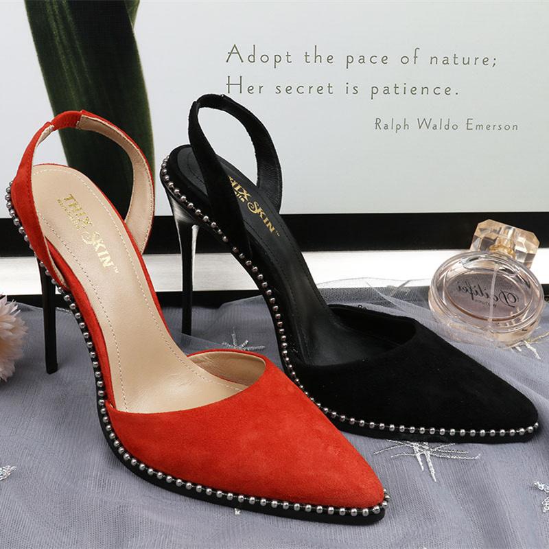 极致诱惑细高跟鞋女百搭伴娘高跟鞋
