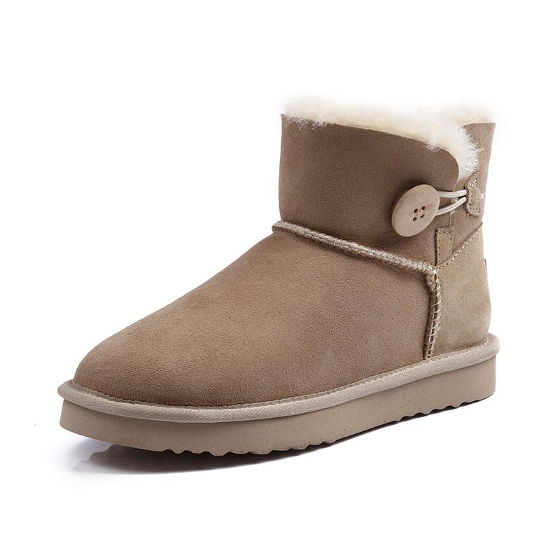 品牌雪地靴冬季靴短筒棉鞋真皮雪地靴