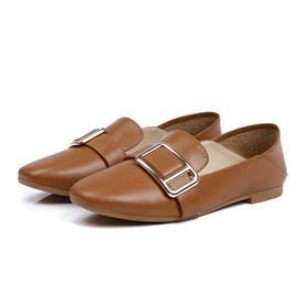 平底方头休闲女款单鞋