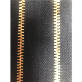 基钰拉链箱包用3号单拉金牙黑布拉链
