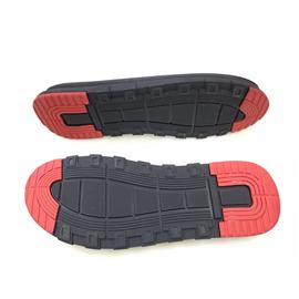 橡胶+PU双层沙?#26448;?#30952;防滑凉鞋底