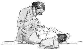 和林人有一个关于做鞋的记忆,很温暖……