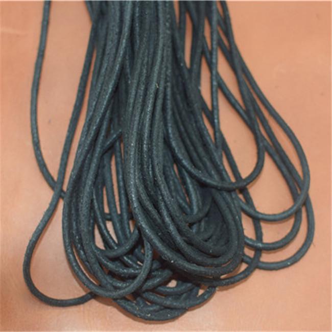 Super-soft (black), Leather Shoe Laces, Leather Square Laces