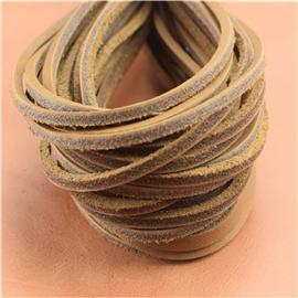 经济真皮鞋带(黄),真皮条、真皮方鞋带