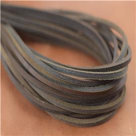 无屑真皮鞋带(深棕),真皮条、真皮方鞋带