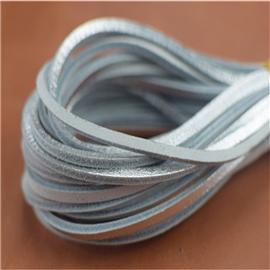 无屑真皮鞋带(银)、真皮条、特种鞋带