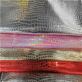 超纤金属鳄鱼纹|汇商皮革