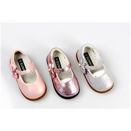贝丽来童鞋厂V.SUNNY高端金属珠光超纤面料透气猪头层里料防滑橡胶大底女童公主鞋