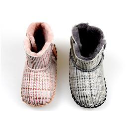 贝丽来童鞋厂V.SUNNY奢华皮毛一体男女宝宝靴子