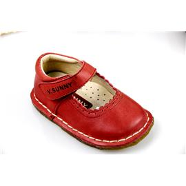 贝丽来童鞋厂V.SUNNY高端蜡感头层牛皮面料透气猪头层里料高档天然烟胶大底女童公主鞋