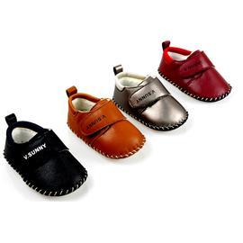 贝丽来童鞋厂V.SUNNY头层牛皮面料透气网布内里手工缝制男女童鞋