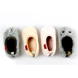 贝丽来童鞋厂V.SUNNY柔软毛绒面料温暖短绒里料橡胶大底男女童鞋