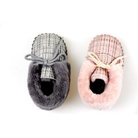 贝丽来童鞋厂V.SUNNY奢华皮毛一体男女宝宝鞋