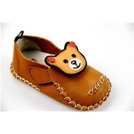 贝丽来童鞋厂V.SUNNY高端蜡感头层牛皮面料透气猪头层里料卡通小熊男女宝宝鞋