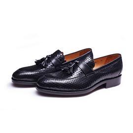 KENKENNY绅士系列进口蟒蛇皮面料固特异男鞋K8028-1
