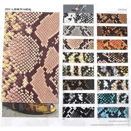 动物皮系列|蟒蛇纹PU-OK9206|欧凯皮革