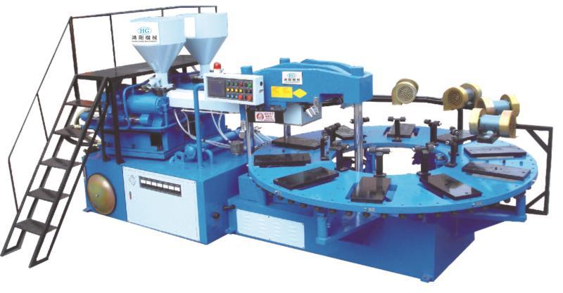 HG-208全自动圆盘式塑胶类射出成型机(双色10/12站)