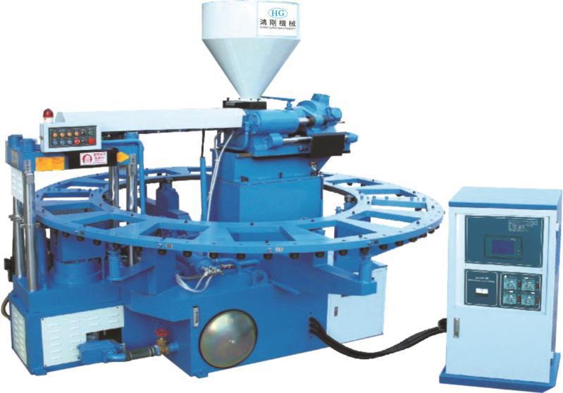全自动圆盘式塑胶类射出成型机的工作原理