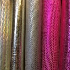 金属贴膜配色绒面超纤|环保透气|超纤皮革|贴面超纤
