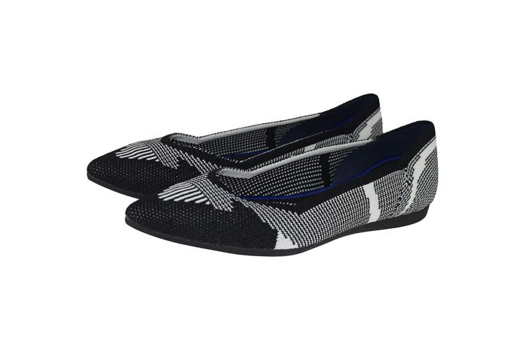 【xerkng】北美潮流斑马纹浅口百搭飞线编织鞋春秋懒人单鞋女